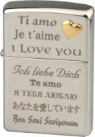 "ZIPPO chrom poliert ""Love/Herz"""