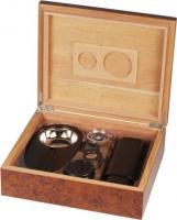 Humidor-Set Wurzelholz für ca. 25 Cigarren