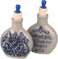 Schnupftabakflasche Steinzeug Bayernwappen