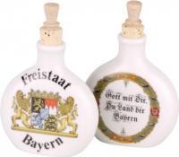 Schnupftabakflasche Porzelan Bayernraute blau