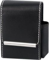 Zigaretten-Packungsetui Leder schwarz