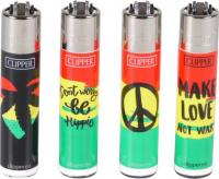 "Clipper ""Jamaican Leaves/Peace""  Feuerzeug"