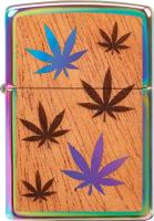 Original ZIPPO Rainbow Mahogany Emblem Cannabis