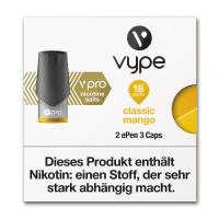E-Zigarette VYPE ePen 3 Caps vPro Classic Mango 18mg 2 Caps