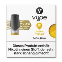 E-Zigarette VYPE ePen 3 Caps vPro Classic Mango 12mg 2 Caps