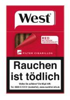 West Red Filter Cigarillos
