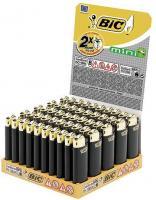 BIC Mini Reibrad schwarz/gold Feuerzeug