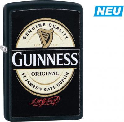 """Original ZIPPO schwarz color """"Guinnes Logo"""""""