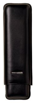 Lecerf 2-Zigarren-Etui schwarz Format Churchill