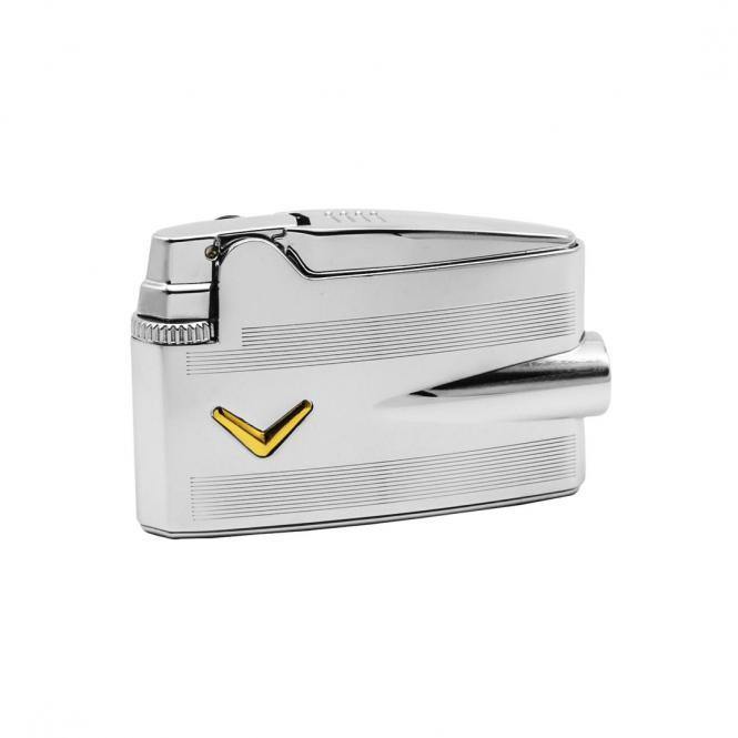 Ronson Mini Varaflame Silver Engine Turn V