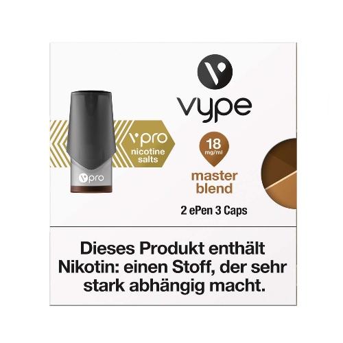 E-Zigarette VYPE ePen 3 vPro Master Blend 18mg 2 Caps
