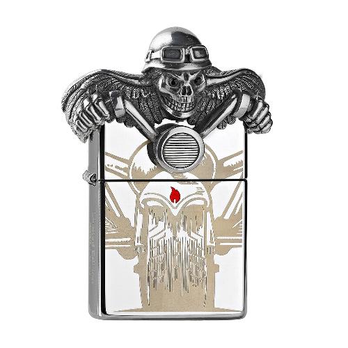 Zippo Limited chrom poliert Death Rider