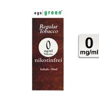 ego green eLiquid Regular Tobacco 10ml 0 mg/ml